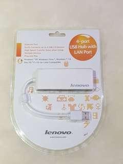 Lenovo 4-Port USB Hub with Lan Port