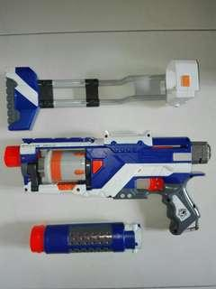 USED Nerf Spectre Blaster with removable foldable stock and barrel Hasbro TRU
