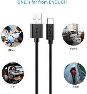 CHOETECH USB Type C Cable, 1-Pack (3.3ft) USB C to USB A 2.0
