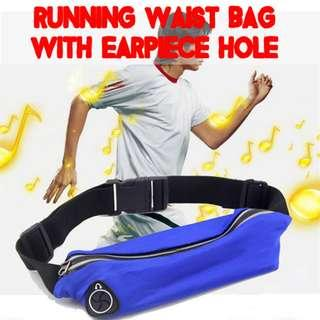 TSP015 Waterproof Elastic Expandable Waist Hip Pouch with music hole