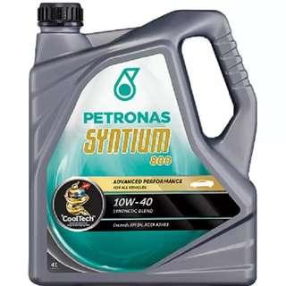 Petronas syntium 800 + oil filter + copper washer