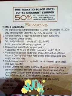 Repriced! Repriced! Rericed! Tagaytay Hotel Voucher