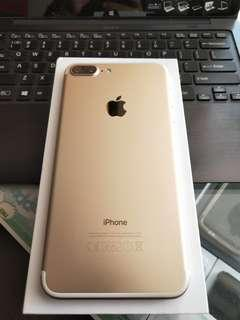 Iphone 7+ gold 128gb (Good Condition)