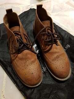 Leather Semi High Cut