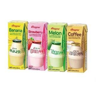 BINGGRAE MILK BANANA/MELON/STRAWBERRY