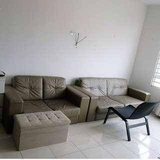 Sofa set 3+2 seater PU self pick up Puchong