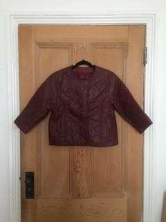Leonard St. 100% Leather Jacket - Burgundy- $29- RRP $425