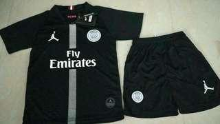 PSG 18-19 Jordan Kids Black Third Kit