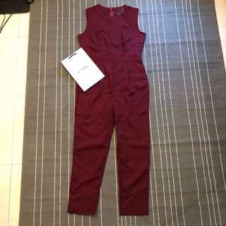 Wine red jumpsuit