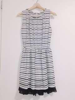 Brand New pattern black & white dress