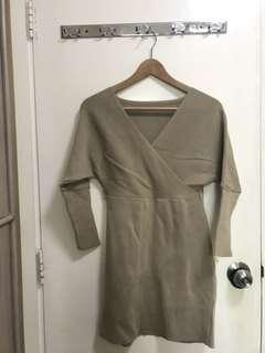 厚實針織連衣裙冬季