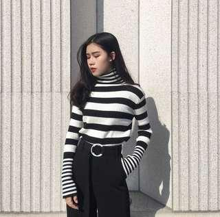 Korean Turtle Neck Sweater Knit Pullover