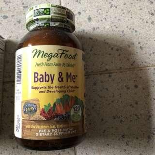 MegaFood. Prenatal Postnatal supplement to support healthy pregnancy developmental bones, red blood cell.