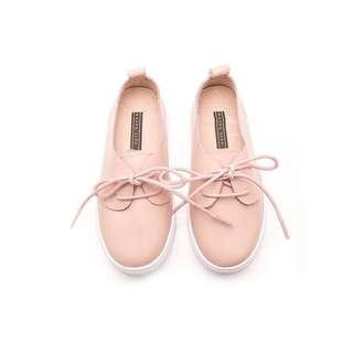 Elisa Litz Dalkey Kids Pink Leather Sneakers