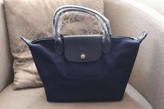Navy Bag with Strap