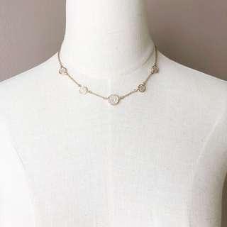 Anne Klein Rosegold Diamanté Necklace