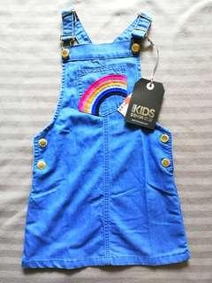 Cotton On Kids Denim Overall Skirt