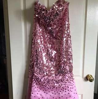 Pink sequenced dress