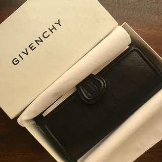 Givenchy Long Wallet Lambskin Leather - Black