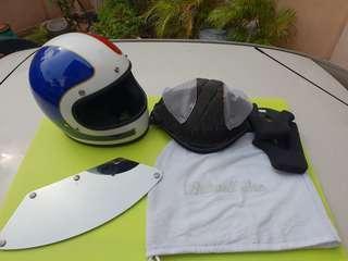Biltwell Gringo Tracker Helmet (Red/White/Blue)