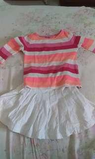 Set long sleeve & skirt
