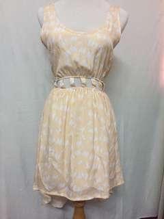 Reverse sleeveless High-low light peach dress BNWOT