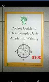 Pocket Guide to Clear Simple Basic Academic Writimg (跟新的沒兩樣)