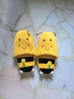 Furry Bee Home Slippers