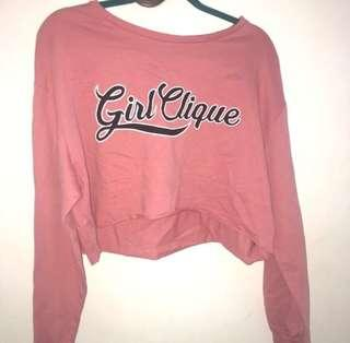 H&M crop sweatshirt girl cliques