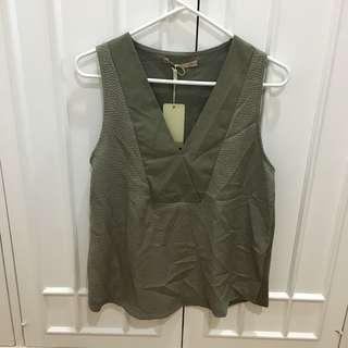Sfera camo green sleeveless top