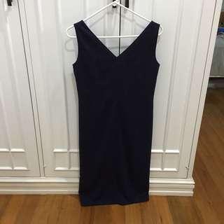 Calvin Klein purple v-neck sleeveless dress