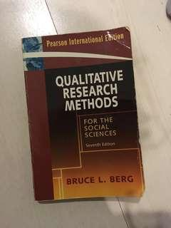 Qualitative Research for Social Science by Bruce L. Berg / English book / Skripsi / Thesis /