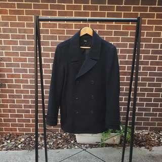 Blaq Charcoal Double Breasted Coat