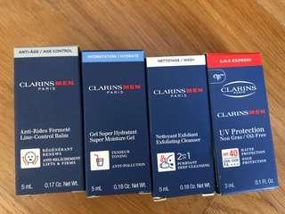 Brand new BN clarins men's samples face body toner lotion