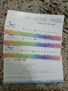 4pcsx Mmcineplex movie ticket