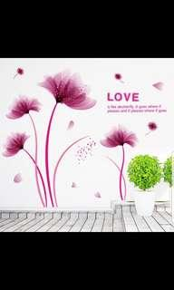 ✔INSTOCK Fantasy flower wall stickers living room bedroom porch bedside TV background wall stickers flower plant garden decoration