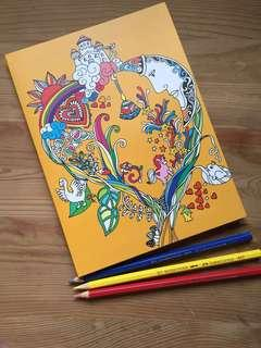 Colouring Notebook / Notepad