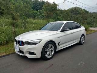 車主自售*14年底出廠 BMW 328i GT M 稀有m版前後保桿 照後鏡包膜 高配備 大螢幕 m版鋼圈