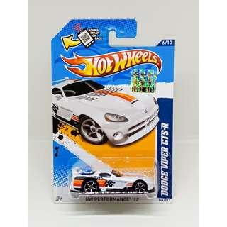 HOT WHEELS 2012 HW PERFORMANCE DODGE VIPER GTS-R