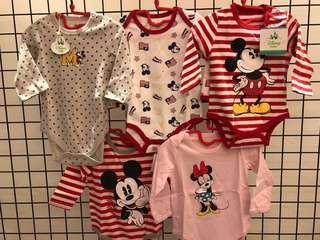 女寶迪士尼包屁衣五件組