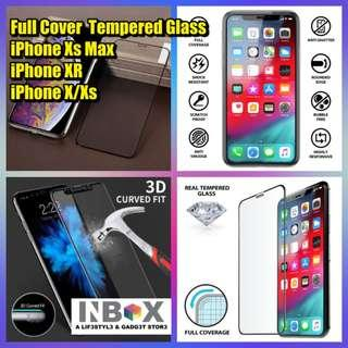 🚚 iPhone Xs Max XR X/Xs Full Cover Tempered Glass