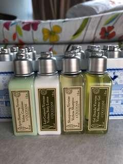 Brand new BN l'occitane body lotion shampoo conditioner shower gel
