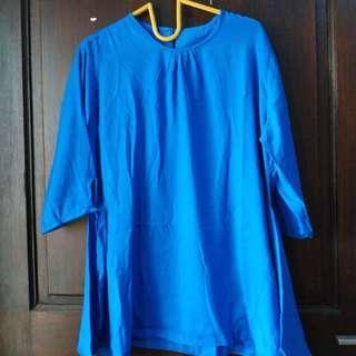 Woman blue top