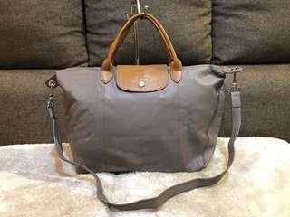 Authentic Longchamp Leather Two Way Bag