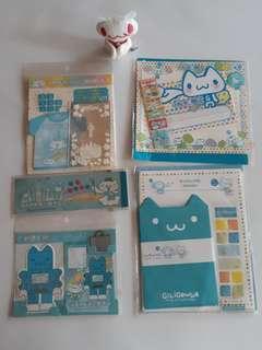 【絕版】嘰哩呱啦 貓咪系列- 信封,便條紙(可整套購買)