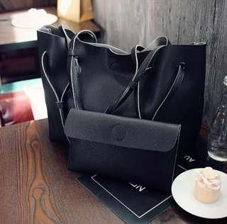 🚚 INSTOCK Set Of 2 Leather Tote Bag