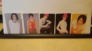 YES Card GiGi 梁詠琪 白卡 貼紙卡 歌詞卡