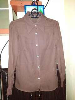 Zara Choco Brown top