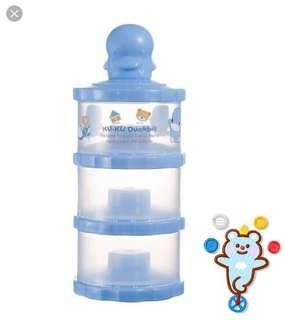 Blue milk powder container