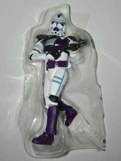 "Star Wars 187th Legion Corps Clone Trooper Purple Battalion 3.75"" 3 3/4 inch figure Hasbro TRU"